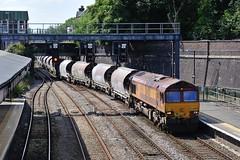 66-020-6M60-Wellington-8-8-2015 (D1021) Tags: shropshire steel shed telford clay wellington dbs wellie class66 ews d700 nikond700 dbschenker 66020 6m60