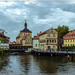 Bamberg, Blick auf das alte Rathaus und das Rottmeisterhäuschen