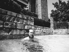 Brian (BurlapZack) Tags: summer portrait bw water pool monochrome sunshine wall swimming swim beard mono apartment condo brickwall pointandshoot summertime poolside satellitedish poolparty waterproofcamera dallastx 4ft pack05 summerdaze addisontx digitalcompact beattheheat vscofilm toughcompact panasoniclumixts20 waterproofcompact yallboyz