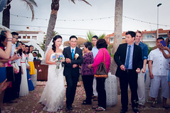 Letting You Go (Timmy.M.Cheung) Tags: wedding roses white guests walking spain nikon tears dad dress father flash crowd daughter chinese down hong kong aisle suit emotions xabia d90 javeo
