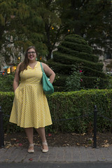 2016-10-17 Shannon Weber Portraits 038 (consolecadet) Tags: portraits bostoncommon bostonpublicgarden autumn fall femme professor yellowdress outdoors