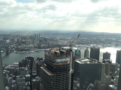 Aerial View, Snow View, Lower Manhattan, 3 World Trade Center, East River, One World Observatory, World Trade Center Observation Deck, New York City (lensepix) Tags: 3worldtradecenter aerialview lowermanhattan oneworldobservatory observationdeck