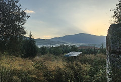 Veil clouds (VillaRhapsody) Tags: clouds morning sunrise veilclouds mountains hills kayaky village rural foggy