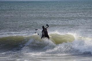 Surfing seaside heights Ortley Beach January 2016