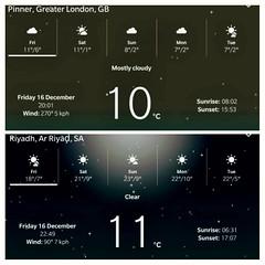 Who'd have thought!  Suburban desert #Pinner England  is the same temperature (11 °C) as #Riyadh Saudi Arabia (monsoon_sadness) Tags: riyadh pinner