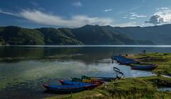 Phewa Lake, Nepal (Stewart Miller Photography) Tags: phewa lake nepal pohkara boats