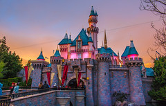 Sunset Hour 1_20_2017 (Domtabon) Tags: california castle dl dlr disney disneyland disneylandresort sleepingbeauty sleepingbeautycastle mousewait sunset