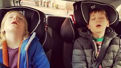 Sleepover (Kninki) Tags: hpad2017 hpad childerbeasts esme jonas carseat car sleep 280117