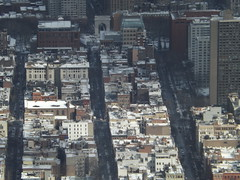 Aerial View, Snow View, Greenwich Village, Washington Square Park, One World Observatory, World Trade Center Observation Deck, New York City (lensepix) Tags: aerialview snowview oneworldobservatory worldtradecenterobservationdeck newyorkcity observationdeck snow winter greenwichvillage