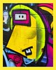 face in the wall (Leonard J Matthews) Tags: graffiti painting art abstract wall fave urban yellow nose eyes australia mythoto