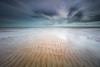 Ripples through silver (Louise Denton) Tags: ripples lowtide leepoint casuarina darwin nt moody storm dark clouds longexposure leefilters bigstopper ndfilter wind movement silver blue beach sand waves water