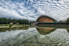 Stars to the clouds (Christoph Pfeilstücker) Tags: xris74 pixpassion europe germany berlin clouds skyscape sky reflection reflections fuji xt1 wide wideangle architecture urban building eye
