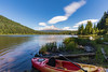 View of Mt Hood from Trillium Lake (kellyandjaffe) Tags: governmentcamp oregon unitedstates us mounthood mthood trilliumlake laketrillium canoe summer outdoors greatoutdoors landscape scenic 1635mm canon6d canon