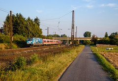 146 246 DB Regio(Bahnland Bayern) (Daniel Powalka) Tags: eisenbahn elok railroads railways railway rail regio werbelok werbung train trainspotting track trainspotter tree zug photo photographer photos photography photographie panorama portrait award artland spotting strecke schiene deutschland db d750 doppelstockwagen fotografie foto fotograf fotos flickr germany kbs800 loco lokomotiven lokführer lokomotive landschaft landscape landschaften localtrain dbregio verkehr br146 traxx bombardier bayern bahn bahnhof nikon natur nikond750 nikkor nikkoer24120 maintal main moduswagen nahverkehr