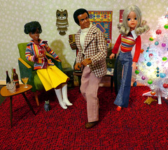 Dance to the Music (dollyfan1) Tags: sindy pedigree doll diorama action figure 16 6th scale xmas dynagirl dynaman barter toys bartertoys