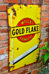 Wills Gold Flake. (curly42) Tags: willsgoldflake enamelsign advertising smoking cigarettes sign willscigarettes wd ho wills