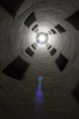 L'intérieur de l'escalier à double révolution du Château de Chambord