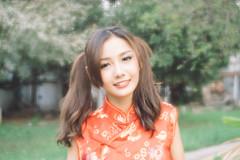DSC00713 (Spyrosis) Tags: woman portrait fashion female asian model cute beauty chinese new year red qipao dress lomography achromat