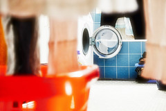 Laundry - Waesche (macplatti) Tags: koblach vorarlberg austria aut laundry waesche red washing waschmaschine wäsche housekeeping haushalt blue blau weiss white xf1855mmf284rlmois dof bokeh