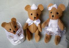 ursinhos_03 (Um a Um / Artes) Tags: original handmade beb feltro bonecos feitoamo