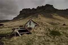 Kálfafell (SkylerBrown) Tags: mountain abandoned nature clouds dark iceland overcast creepy ísland