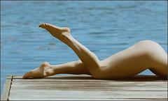 Feet on the pier (Yepanchintcev Aleksey) Tags: sun sexy feet ass beach nature water toes erotic legs maria russian caviar   russiangirl karakan