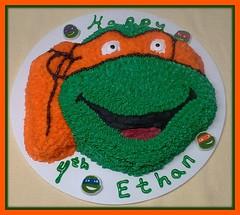 Teenage Mutant Ninja Turtle Cake by Pat, Linn County, Iowa, www.birthdaycakes4free.com