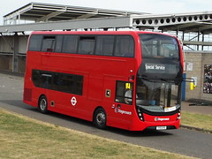 YY15OYS (47604) Tags: red bus london football northampton stadium transport double silverstone 400 alexander dennis mmc stagecoach enviro eastlondon trident decker sixfields romford westham 10301 yy15oys