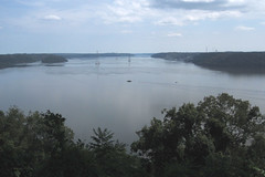 Susquehanna River (Molly Des Jardin) Tags: park blue trees sky usa green water clouds forest river view state pennsylvania shore lancaster susquehanna 2014 susquehannock drumore 43215mm