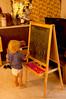 Future scientist (tommaync) Tags: blue boy standing chalk nc nikon july northcarolina grandson chalkboard matias easel chathamcounty 2015 d40