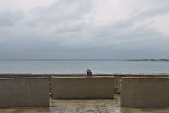 Alone on the benches (Phillip Marshall) Tags: sea cup race umbrella bench alone sailing solent portsmouth americas 2015