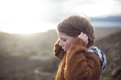 On our way back down (Dalla*) Tags: boy summer portrait color wool nature outside evening iceland moss kid colours hiking hike ingvellir pullover mifell wwwdallais