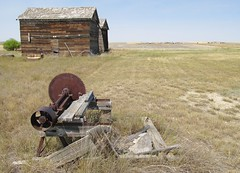 Saw and structures in Collins,Montana. (montanatom1950) Tags: old history abandoned montana decay ruin historic dust abandonment collinsmontana