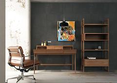 HOME OFFICE with KWDESK & KWSU (KARPENTER Indonesia) Tags: wood home table design office oak desk furniture signature walnut homedecor fsc solid reclaimed bookrack shelv karpenter