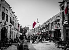 Qatar National Day 18-Dec-2016 (Mohammed Qamheya) Tags: qatarnationalday souqwaqif qatar doha bw qatarflag 18dec اليومالوطني قطر سوقواقف