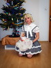 Christmas girl (blackietv) Tags: black white lolita dress gown blouse petticoat lace frilly hellbunny christmas tree tgirl transvestite crossdresser crossdressing transgender