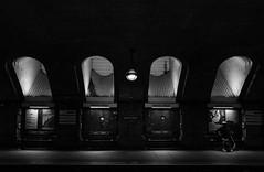 Baker Street mono (selvagedavid38) Tags: passenger waiting station tube underground london platform railway baker street shadows brick travel illuminate dark