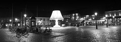 Malmo in Pre-Christmas mood (lunaryuna) Tags: sweden southsweden malmo urban city night citynights citylights nighttime nightlights nightphotography nocturnalphotography blackwhite bw monochrome lunaryuna