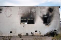 Burnt Cafe, Yukka AZ (nikname) Tags: burntcafe yukkaaz route66 arizonausa arizona burntbuildings mohavedesert route66usa