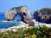 Castro de las Gaviotas, Llanes, Asturias, España. (PGARCIA.) Tags: castrodelasgaviotas playadelahuelgavillahormesllanesasturiasespañacaminodesantiagodelnorte naturaleza playas mar acantilados verde