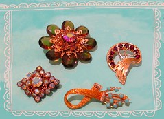 Brooches (dog.happy.art) Tags: brooch brocches pin pins jewelry shiny sparkle collection collecting