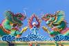 à Vientiane / Laos (Christian Tessier) Tags: asie laos vientiane capitale détail dragon temple christiantessier couleur