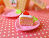Miniature Strawberry Cake (Big Red Angel) Tags: blythe barbie strawberry rement picnic coca cola doll diorama