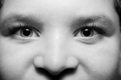 """""""Smooth Baby Face Close Up"""" (So Fluid) Tags: baby babyface youth face young child portrait portraiture portraitphotography blackandwhite blackandwhitephotography bw smooth gentle closeup 50mm soft eye canon canonrebel t5i sigma sofluid"""