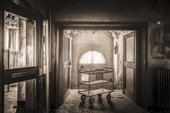 I'll give you a warm welcome (marco18678) Tags: nikon d750 tamron 1530 lost abandoned decay decayed urbex urban exploring hidden hotel warm welcome trolly old natural light restaurant germany entree entrance eu ue europe world luxury beautiful photography pixanpictures door window broken history haunted urbanexploring naturallight relaxing forgotten mysterious reservation horeca