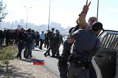 Israeli police detain a Palestinian protester during a demonstration against the construction of Jewish settlements in the occupied West Bank (TeamPalestina) Tags: issamalrimawi heritage freepalestine palestinian sunrise sweet beautiful live photo photographer comfort natural تصويري palestine nice am amazing innocent occupation landscape landscapes reflection blockade hope canon sunset