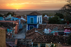 Sunset viewed from the Bell Tower in Trinidad, Cuba (danielacon15) Tags: cuba trinidad 2016 streetphotography sunset roofs urban colorful terraces outdoors travel