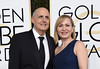 Kasia Ostlun and actor Jeffrey Tambor arrive at the 74th annual Golden Globe Awards, January 8, 2017, at the Beverly Hilton Hotel in Beverly Hills, California. / AFP / VALERIE MACON (Photo VALERIE MACON/AFP/Getty Images)