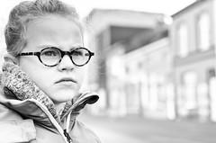 City Girl (kceuppens) Tags: city girl stad meisje bril glasdes bw black white blackandwhite zw zwart wit antwerpen antwerp bus station ballet dancing dance nikon d7000 nikond7000 nikkor3518 nikkor 35mm
