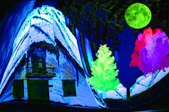 La casita de pastel (seguicollar) Tags: pasteles balcón ventanas puerta casita árboles luna paisajerural imagencreativa photomanipulación virginiaseguí artedigital arte art artecreativo surreal surrealismo